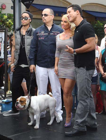 Ice T And Coco At The Grove To Do An Interview On EXTRA