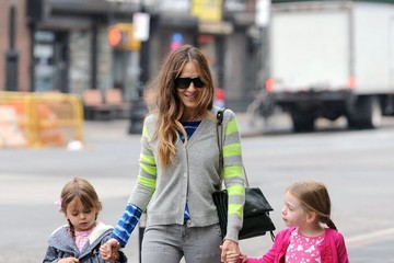 Marion Broderick Sarah Jessica Parker and Her Girls Out in NYC