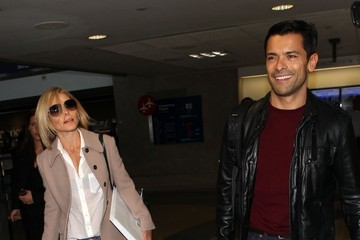 Mark Consuelos Kelly Ripa and Mark Consuelos at the Airport