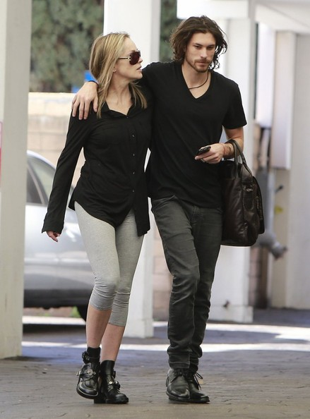 Sharon Stone Stops By An Office In Beverly Hills