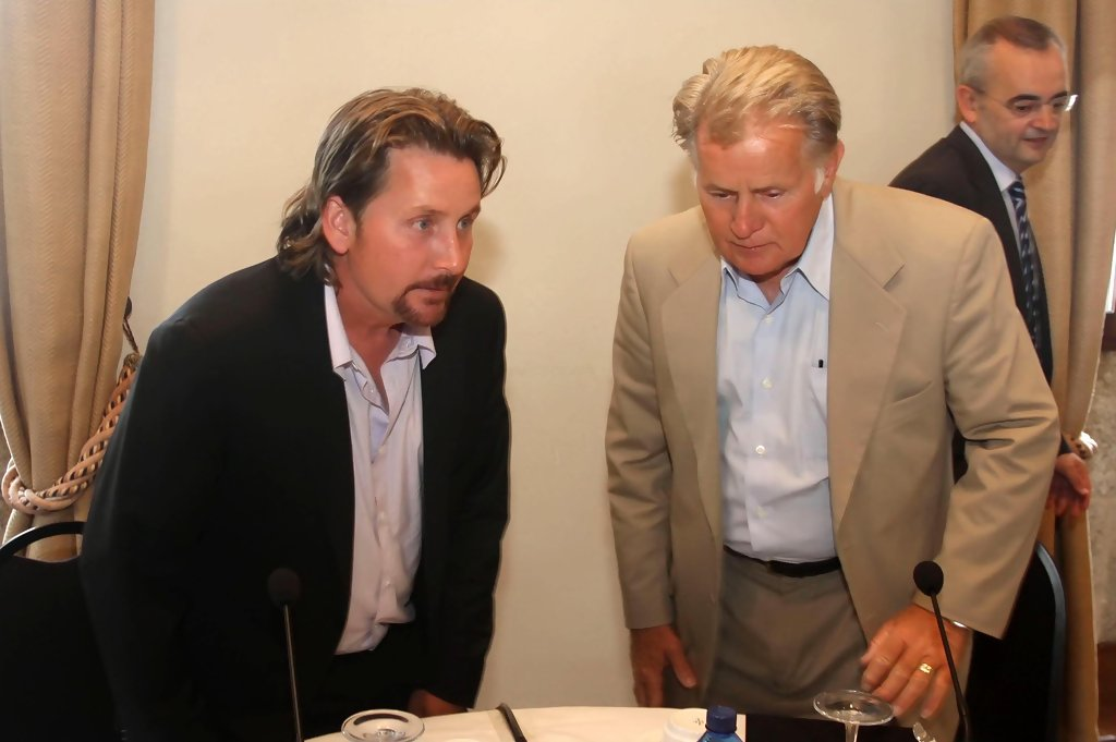Martin Sheen And Family At A Business Meeting With Audio ...