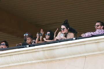 Mary Jo Campbell The Kardashian Family Enjoys a Day at the Del Mar Racetrack