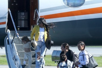 Mason Disick The Kardashian Family Catches a Private Jet Out of Town