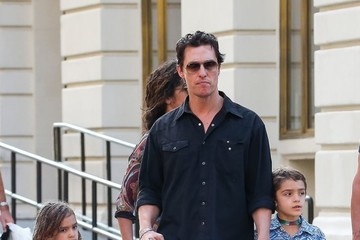 Matthew McConaughey Levi Mcconaughey Matthew McConaughey and Camila Alves Are Seen With Their Children in NYC