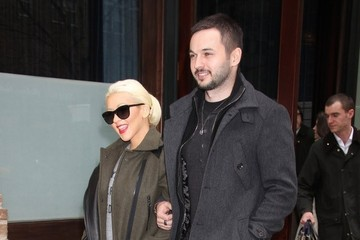Matthew Rutler Christina Aguilera and Matthew Rutler Out in NYC