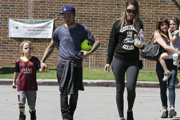 Meagan Camper Pete Wentz Takes His Family To The Park