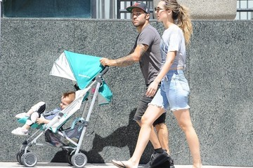 Meagan Camper Pete Wentz Pushes the Baby Stroller in Los Angeles