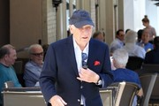 Mel Brooks Has Lunch With Friends In Beverly Hills