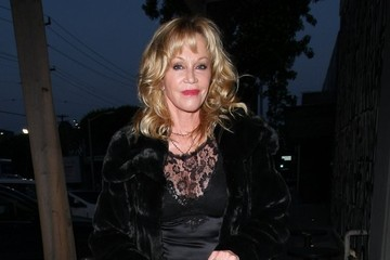 Melanie Griffith Celebrities Out For Dinner At Craig's