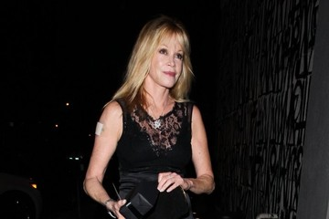 Melanie Griffith Celebs Get Dinner in West Hollywood