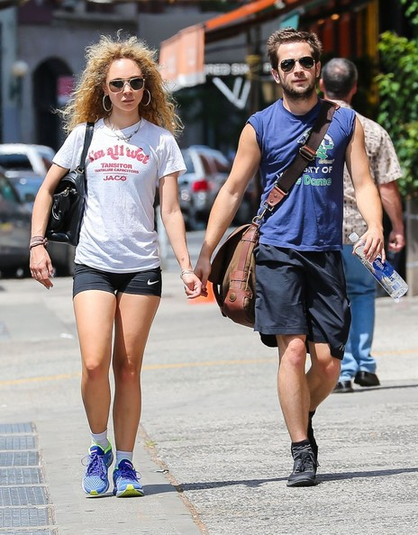 Juno Temple and Michael Angarano Leave the Gym