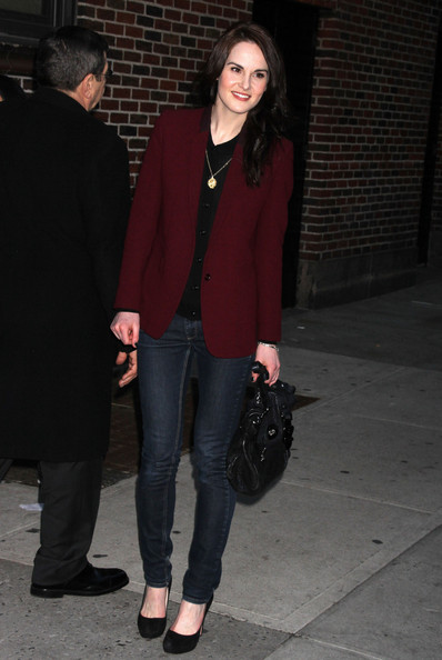 """Michelle Dockery - Celebs At The """"Late Show With David Letterman"""""""