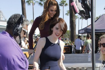 Michelle Dockery Celebs Stop by the 'Extra' Set