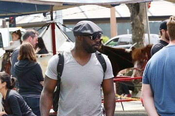 Mike Colter Mike Colter Visits the Farmer's Market
