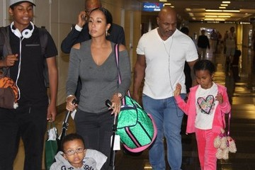 Mike Tyson Morocco Tyson Mike Tyson and Family Arriving in Washington DC