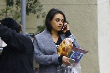 Mila Kunis Ashton Kutcher & Mila Kunis Out With Kids In Malibu