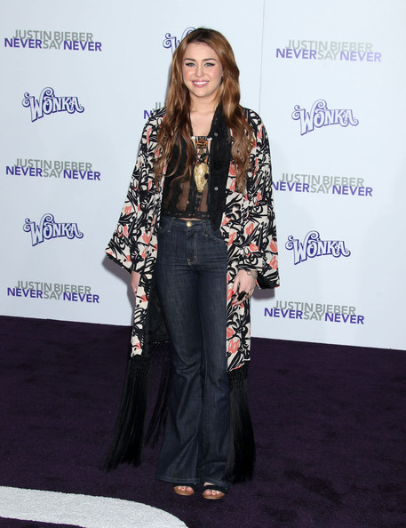 miley cyrus at justin bieber never say never premiere. quot;Justin Bieber: Never Say