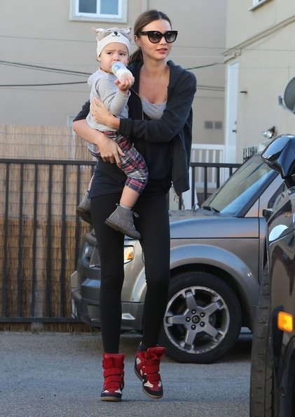 Miranda Kerr - Miranda Kerr And Son Flynn At A Gym In Beverly Hills