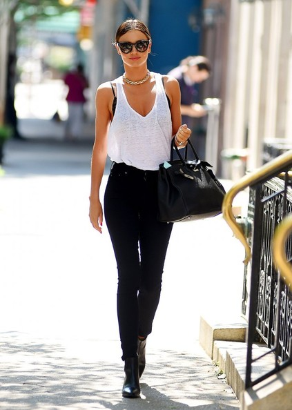 Miranda Kerr Steps Out in NYC []