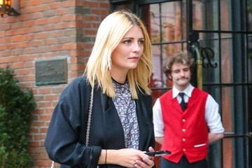 Mischa Barton Celebrities Outside The Bowery Hotel in New York City