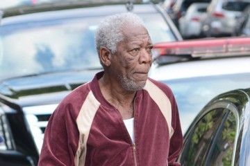 Morgan Freeman Stars Prepare on the Set of 'Going In Style' in NYC