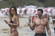 Natalia Borges and Michael Satsky Play on the Beach in Miami