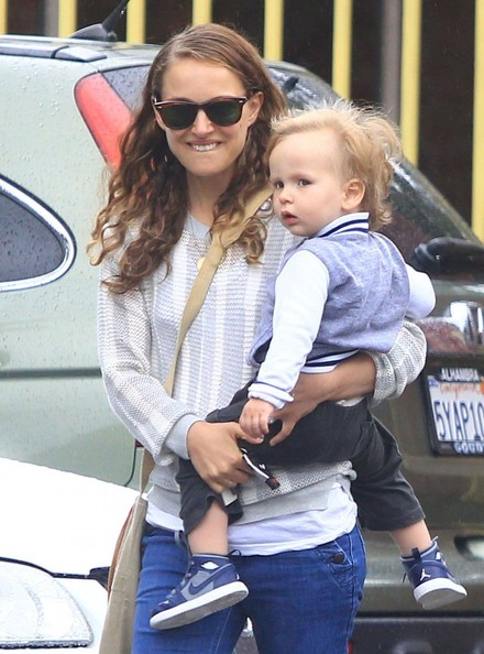 Photo of Natalie Portman & her Son  Aleph Portman-Millepied