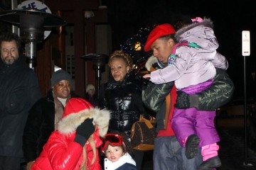 Nick Cannon Monroe Cannon Mariah Carey and Family Step Out in Aspen