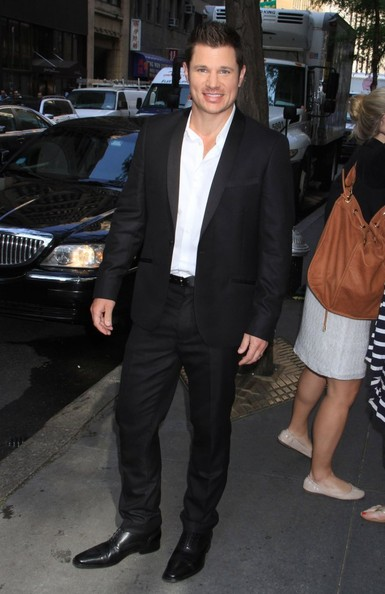 Dean Cain and Nick Lachey Arrive at the NBC Studios
