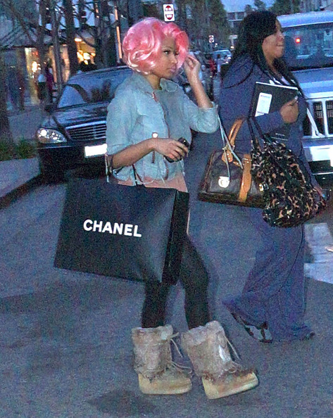 Nicki Minaj Singer Nicki Minaj and a friend out shopping in Beverly Hills, CA on February 10, 2012