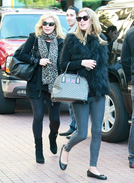Socialite Nicky Hilton and her mom Kathy Hilton out shopping at Zara at The Grove in Los Angeles, CA.