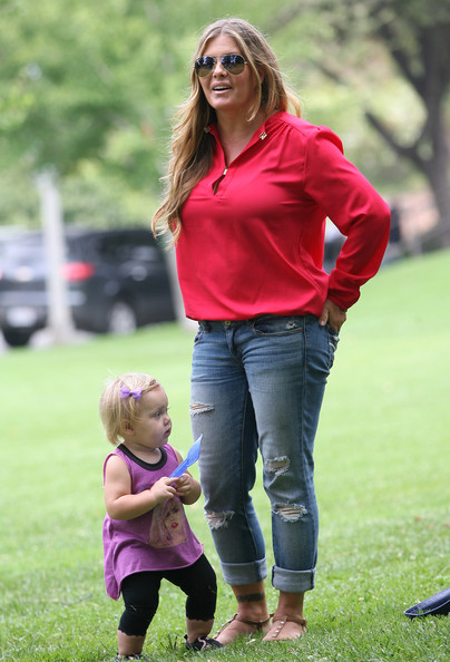 Nicole Eggert and daughter