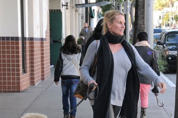 Nicollette Sheridan Nicollette Sheridan Goes out with Her Dog in Beverly Hills