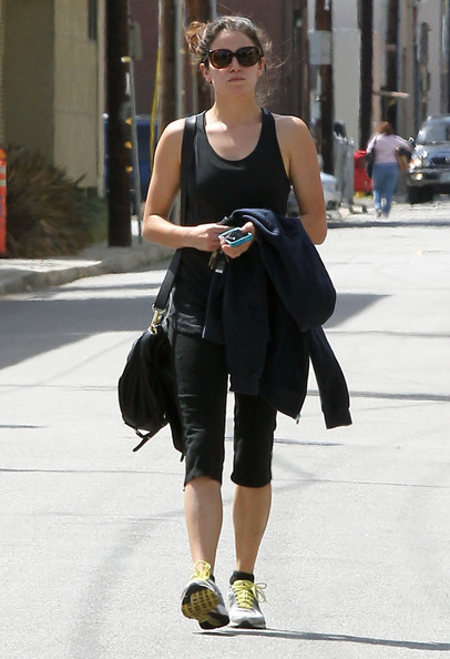 Semi-Exclusive: Actress Nikki Reed made her way out of a gym in Los Angeles, California on April 6, 2012 after a work out session.