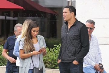 October Gonzalez Tony Gonzalez and Wife October Go Out for Lunch