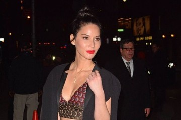 Olivia Munn Celebrities Visit the 'Late Show with Stephen Colbert'