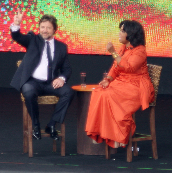 e6d93a410c Russell Crowe Making A Guest Appearance On The Oprah Winfrey Show In Sydney