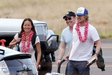 Jade Duell Owen Wilson And Family Arriving In Maui