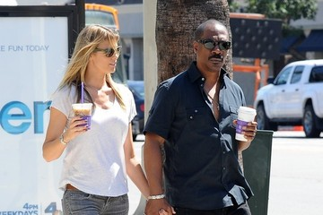 Paige Butcher Eddie Murphy and Paige Butcher Get Coffee