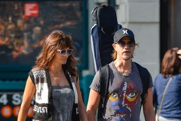 Paul Banks Helena Christensen and Paul Banks Out in NYC