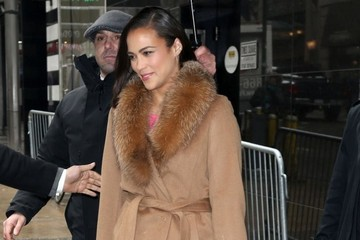 Paula Patton Celebs Visit 'Good Morning America'