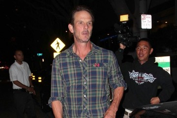 Peter Berg Celebs Get Dinner at Madeo