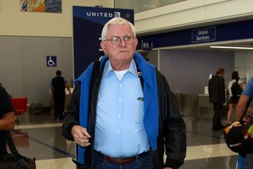 Phil Donahue Phil Donahue Departs on a Flight at LAX