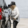 Pregnant Fergie At A Recording Studio In Santa Monica