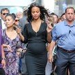 Zoe Saldana Dresses Up Her Baby Bump