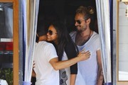 Pregnant Zoe Saldana & Marco Perego Out For Lunch