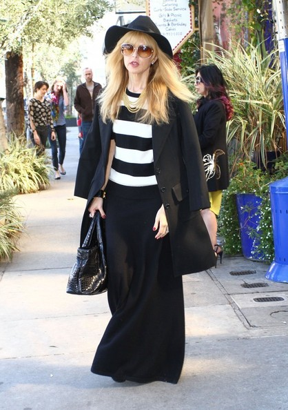 Celebrity stylist Rachel Zoe out for lunch at The Little Door restaurant in Los Angeles, California on March 9, 2013.