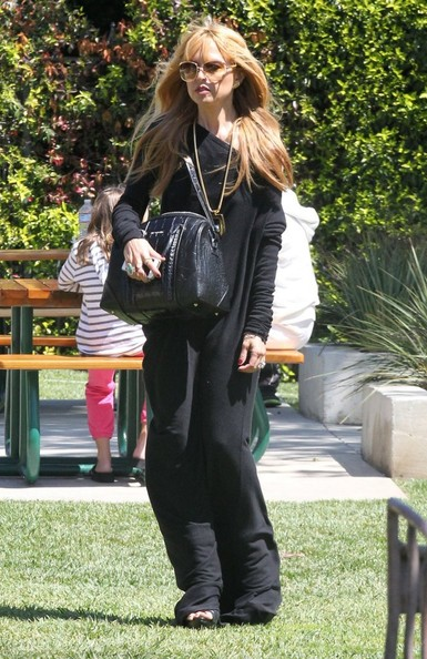 Celebrities stylist Rachel Zoe and her husband Rodger Berman enjoy a day with their son Skyler in Malibu, California on April 5, 2014. The family stopped by a park before doing a little bit of shopping.