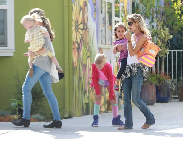 Denise Richards and Rebecca Gayheart Pick Up Their Girls