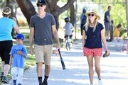 Actress and busy mom Reese Witherspoon and her husband Jim were seen heading to their son's baseball game in Los Angeles, California on April 29, 2017.  The happy couple appeared to be enjoying their time together while watching the game.